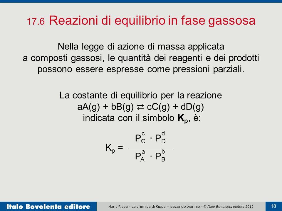 17.6 Reazioni di equilibrio in fase gassosa