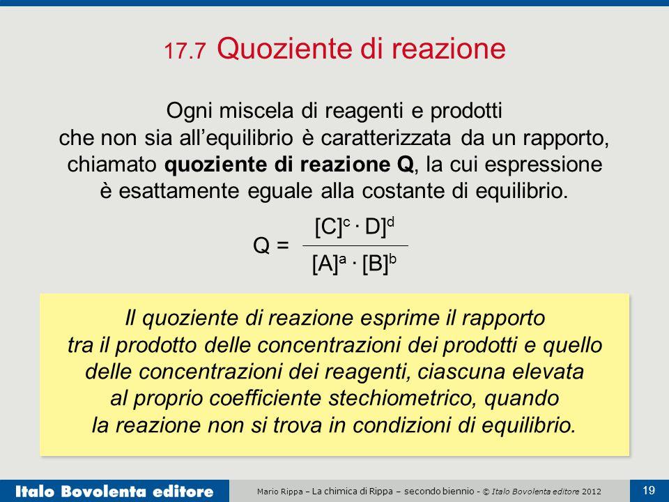 17.7 Quoziente di reazione