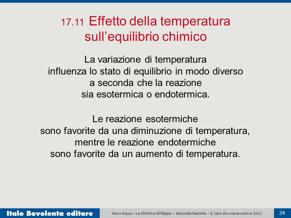 17.11 Effetto della temperatura sull'equilibrio chimico