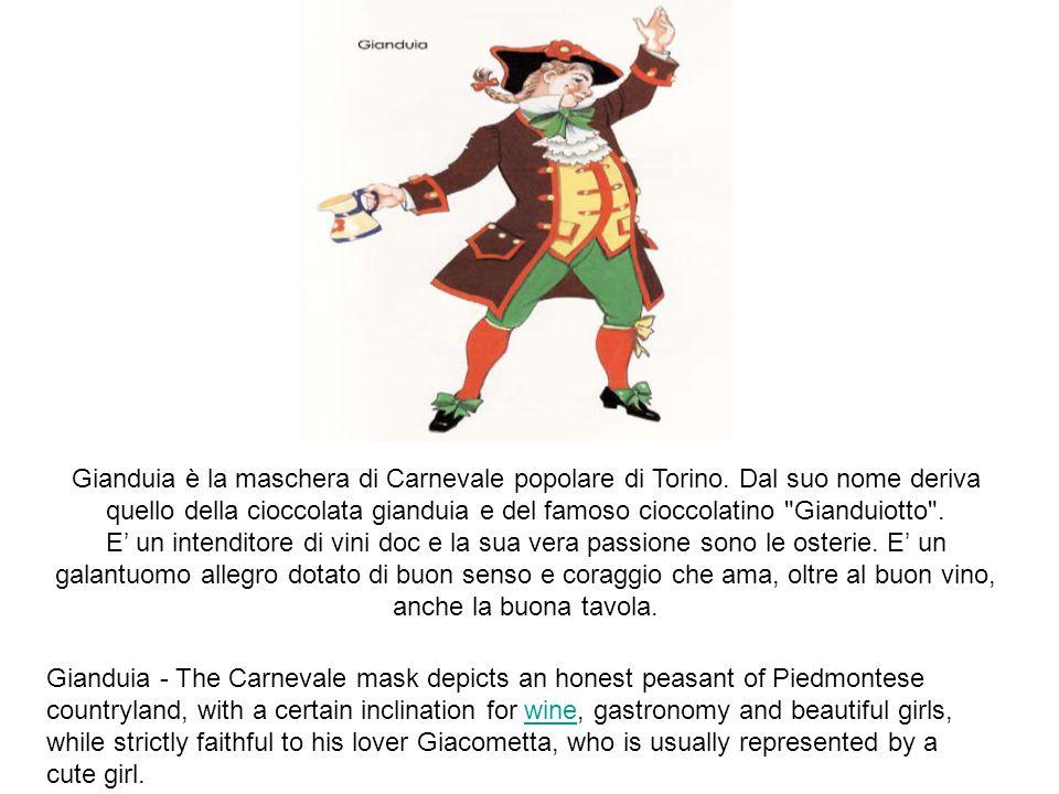 Gianduia è la maschera di Carnevale popolare di Torino