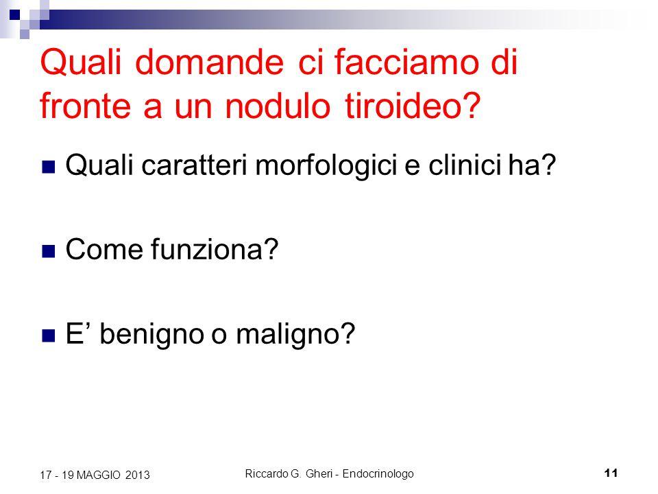 Quali domande ci facciamo di fronte a un nodulo tiroideo