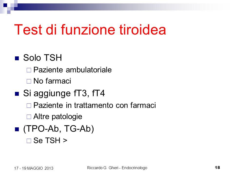 Test di funzione tiroidea