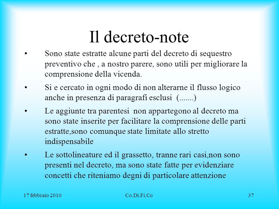 Il decreto-note