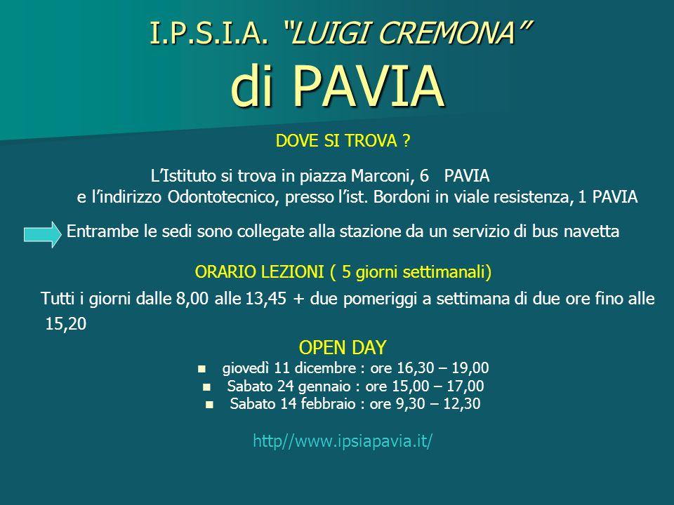 I.P.S.I.A. LUIGI CREMONA di PAVIA