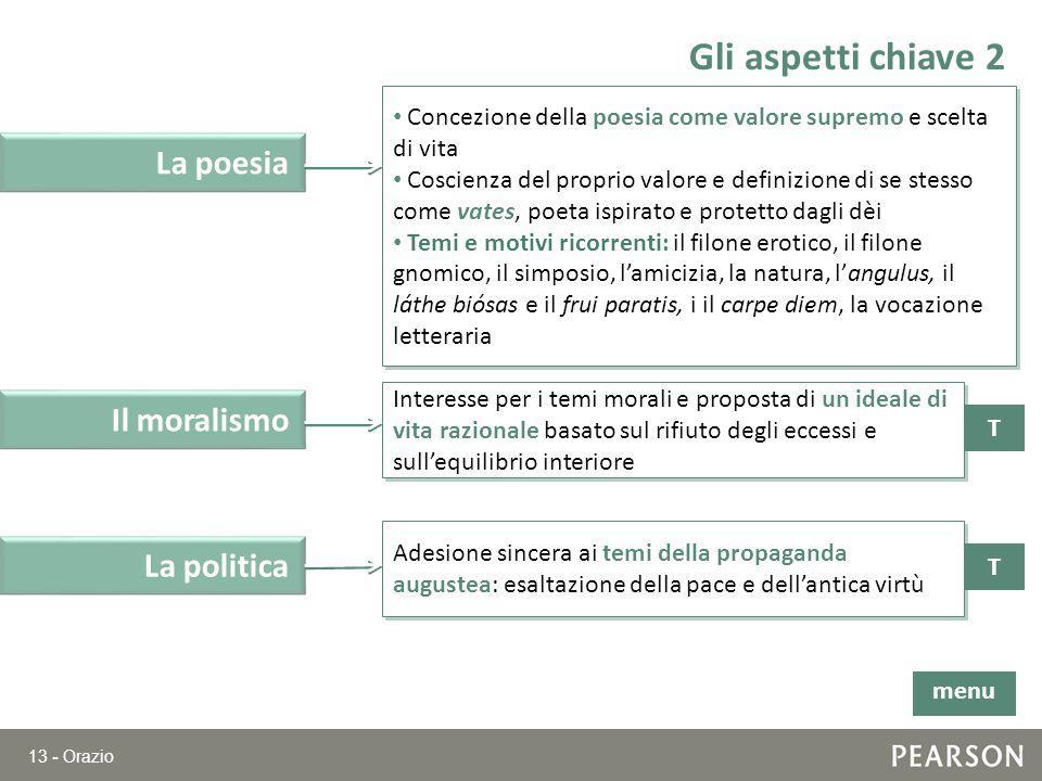 Gli aspetti chiave 2 La poesia Il moralismo La politica