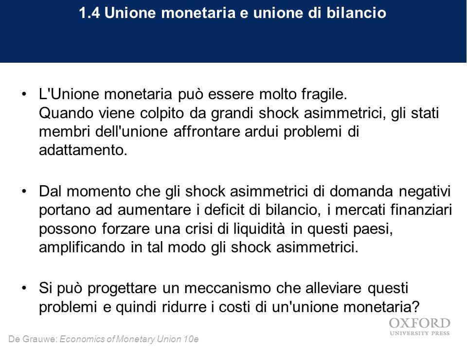 1.4 Unione monetaria e unione di bilancio