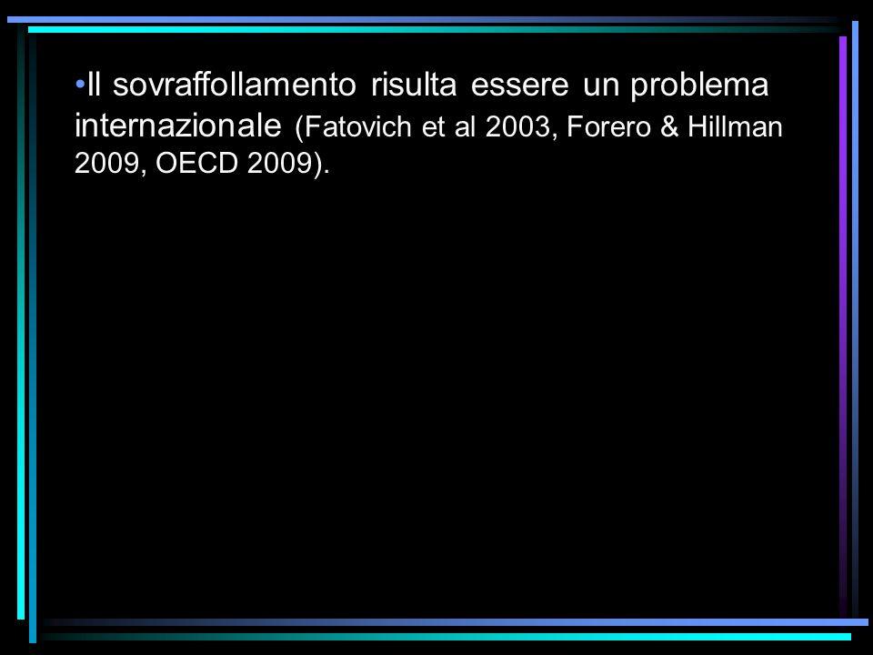 Il sovraffollamento risulta essere un problema internazionale (Fatovich et al 2003, Forero & Hillman 2009, OECD 2009).