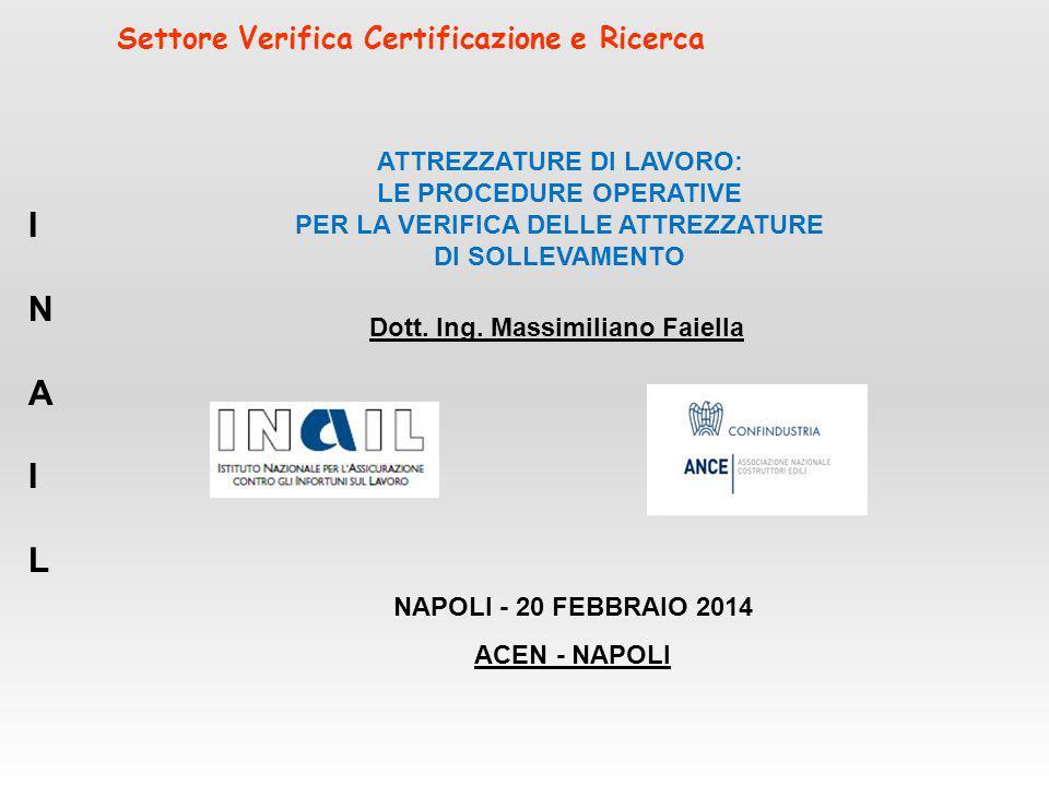 Settore Verifica Certificazione e Ricerca