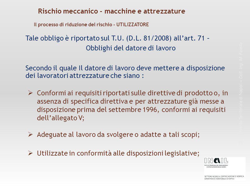 Dipartimento Territoriale di Napoli – Dott. Ing. M. Faiella