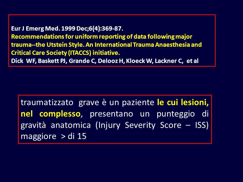 Eur J Emerg Med. 1999 Dec;6(4):369-87