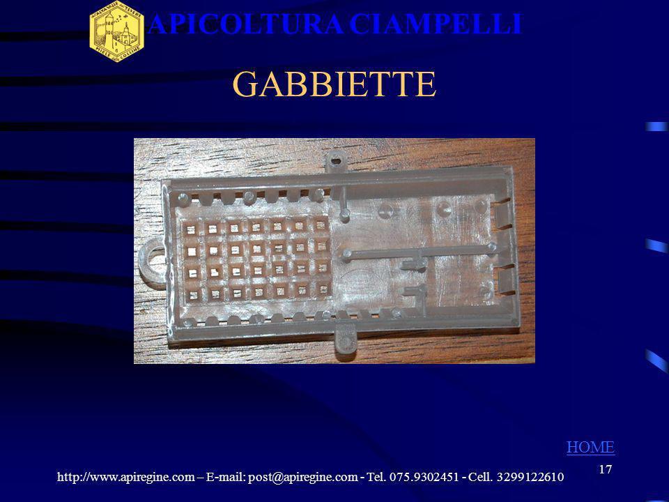 APICOLTURA CIAMPELLI GABBIETTE HOME