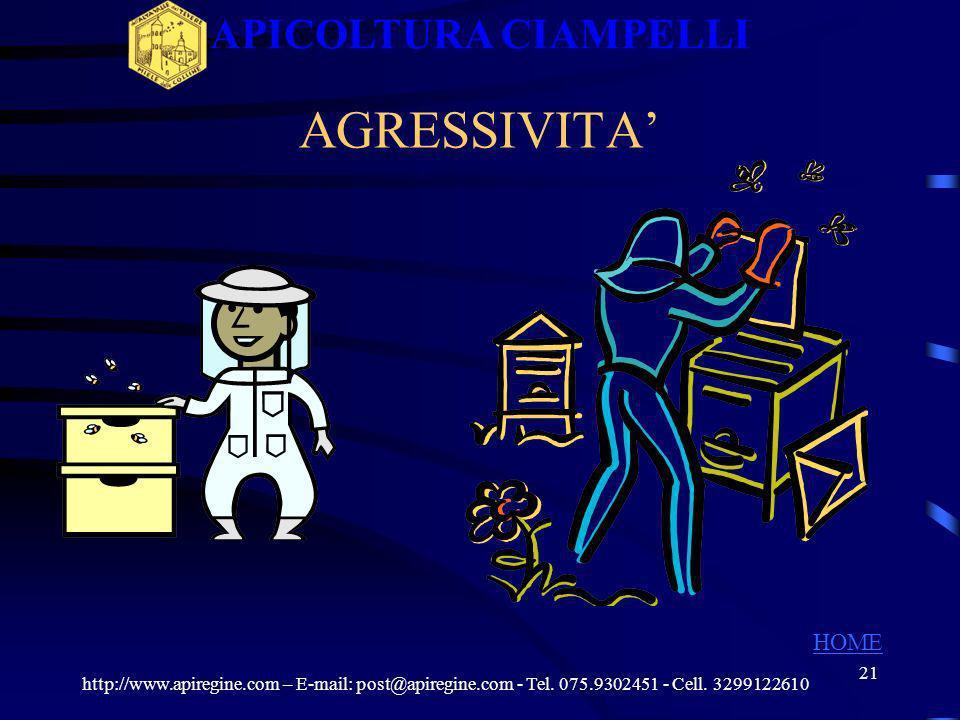 APICOLTURA CIAMPELLI AGRESSIVITA' HOME