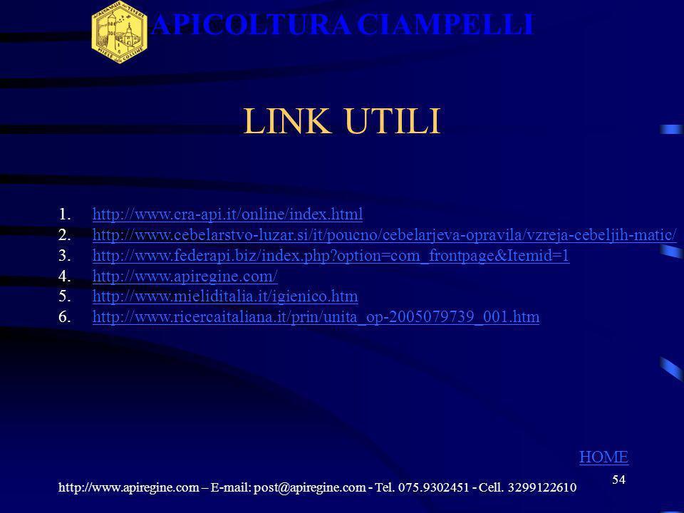 APICOLTURA CIAMPELLI LINK UTILI