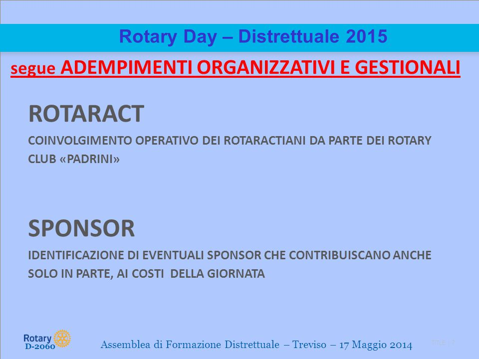 Rotary Day – Distrettuale 2015