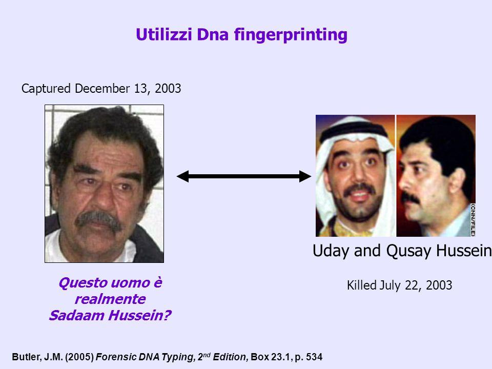 Utilizzi Dna fingerprinting