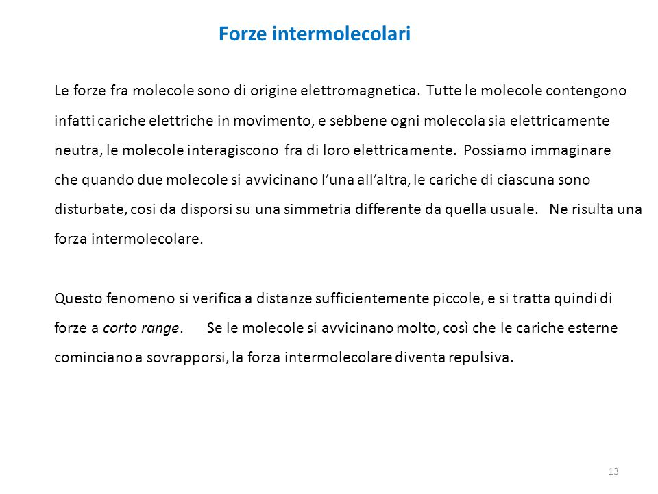 Forze intermolecolari