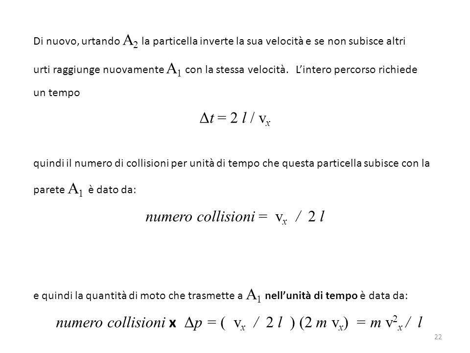 numero collisioni = vx / 2 l
