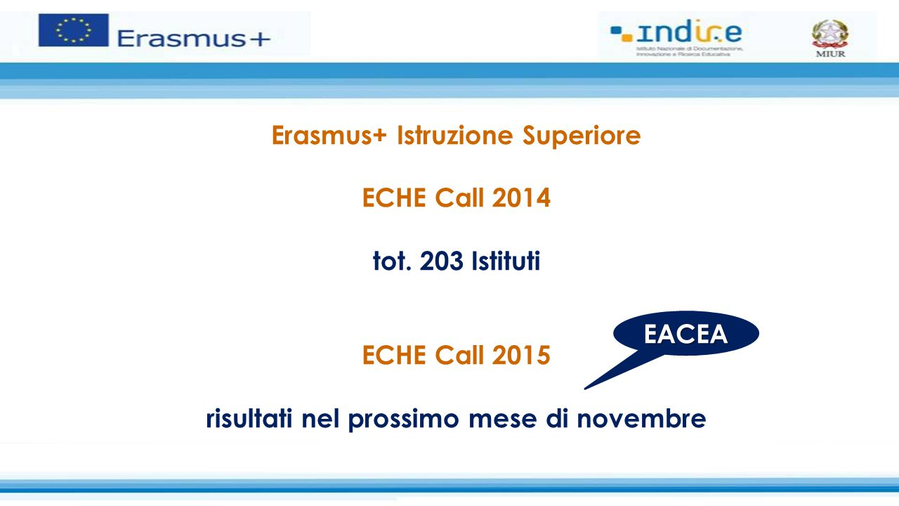 Erasmus+ Istruzione Superiore ECHE Call 2014 tot