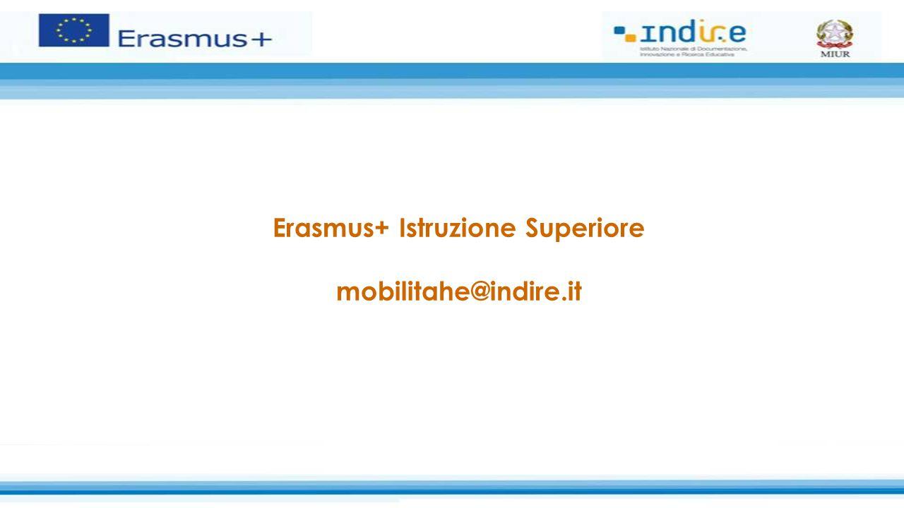 Erasmus+ Istruzione Superiore mobilitahe@indire.it