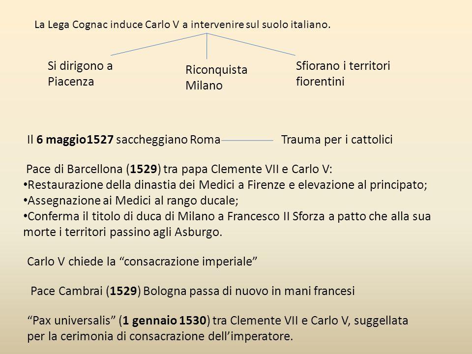 Sfiorano i territori fiorentini Riconquista Milano