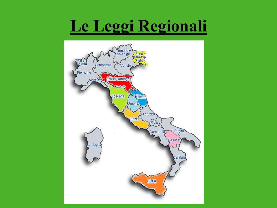 Le Leggi Regionali