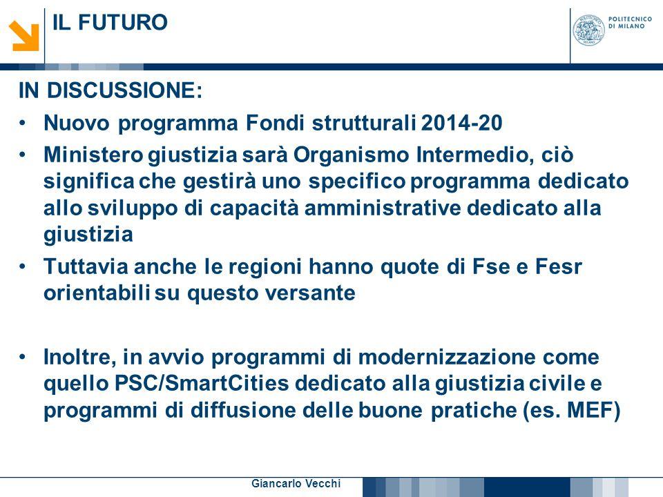 Nuovo programma Fondi strutturali 2014-20