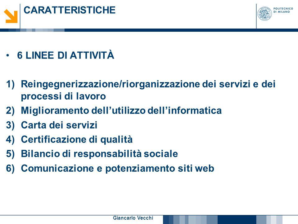 Miglioramento dell'utilizzo dell'informatica Carta dei servizi