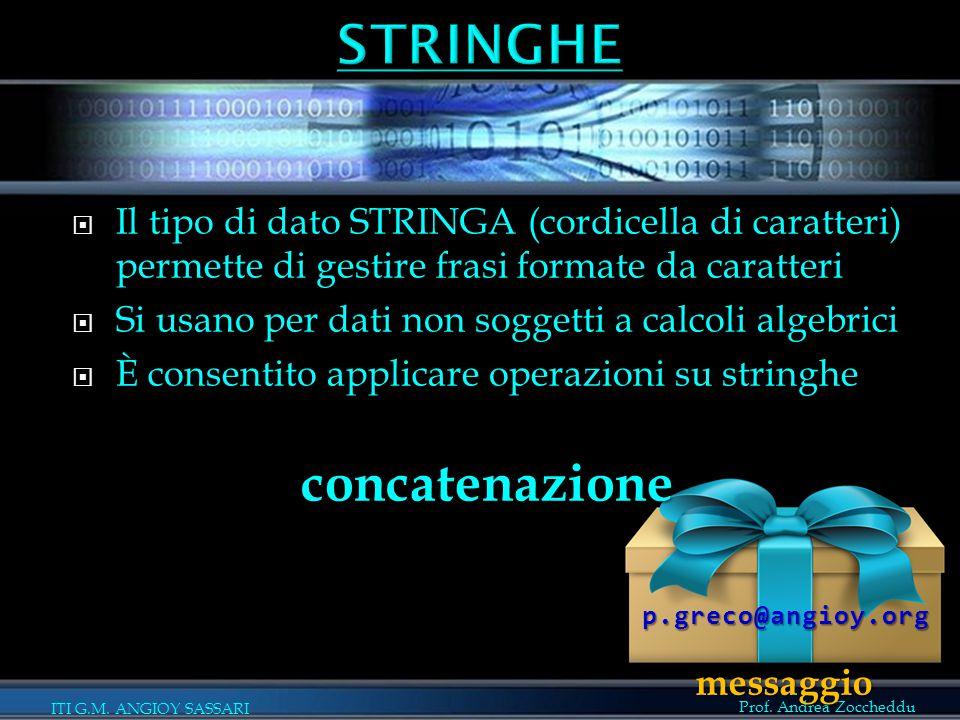 STRINGHE concatenazione