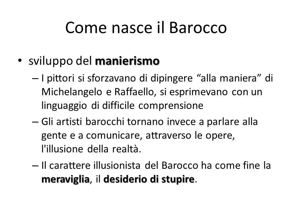 Come nasce il Barocco sviluppo del manierismo