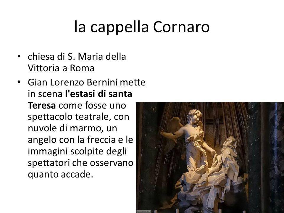 la cappella Cornaro chiesa di S. Maria della Vittoria a Roma
