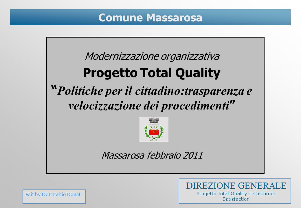Progetto Total Quality