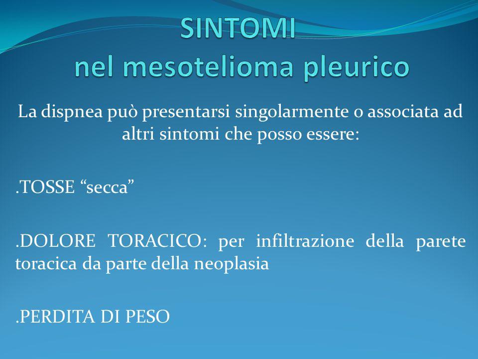 SINTOMI nel mesotelioma pleurico