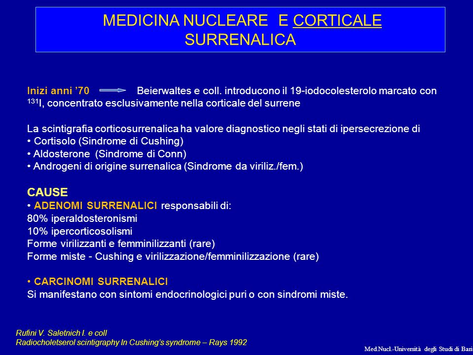 MEDICINA NUCLEARE E CORTICALE SURRENALICA