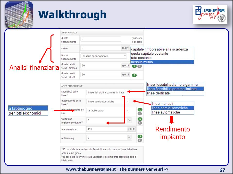 Walkthrough Analisi finanziaria Rendimento impianto
