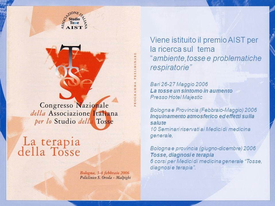 Viene istituito il premio AIST per la ricerca sul tema ambiente,tosse e problematiche respiratorie