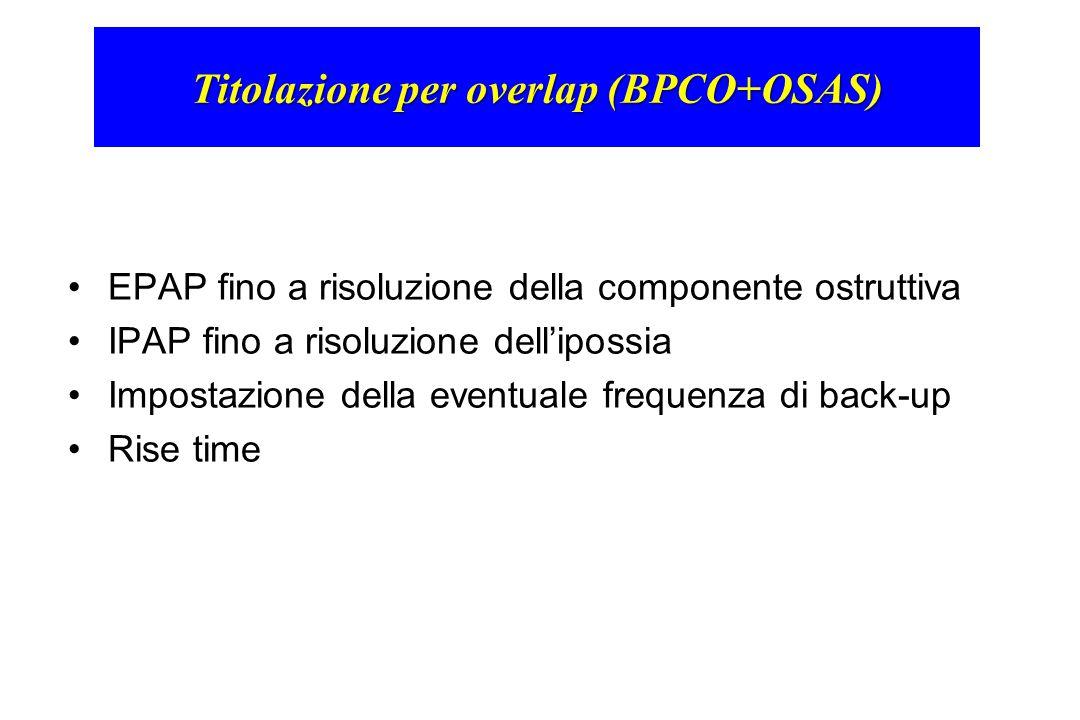 Titolazione per overlap (BPCO+OSAS)