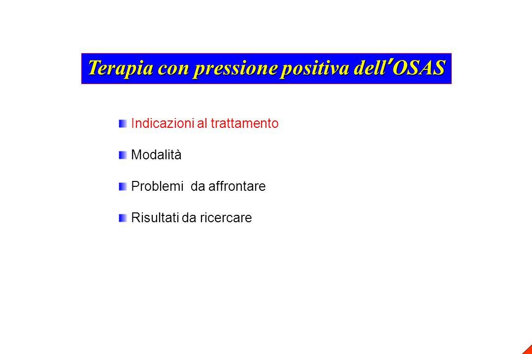 Terapia con pressione positiva dell'OSAS