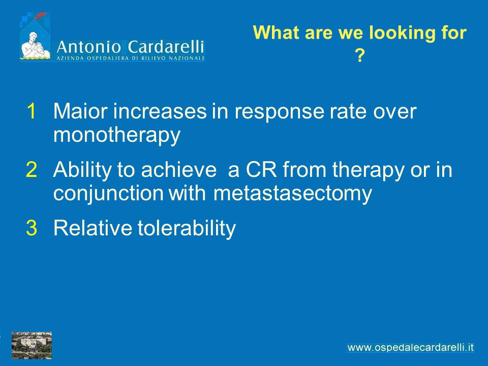 Maior increases in response rate over monotherapy