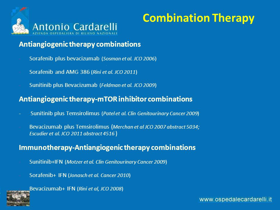 Combination Therapy Antiangiogenic therapy combinations