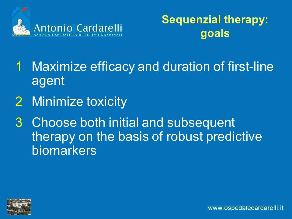Sequenzial therapy: goals