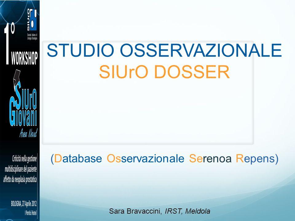 STUDIO OSSERVAZIONALE SIUrO DOSSER
