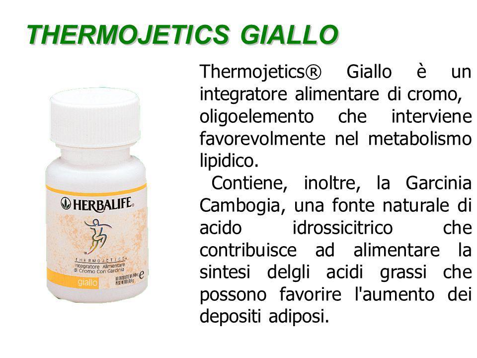 THERMOJETICS GIALLO Thermojetics® Giallo è un integratore alimentare di cromo, oligoelemento che interviene favorevolmente nel metabolismo lipidico.