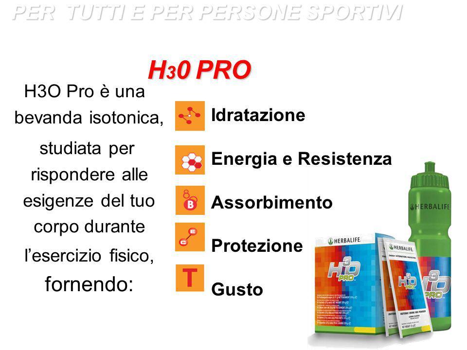 H3O Pro è una bevanda isotonica,