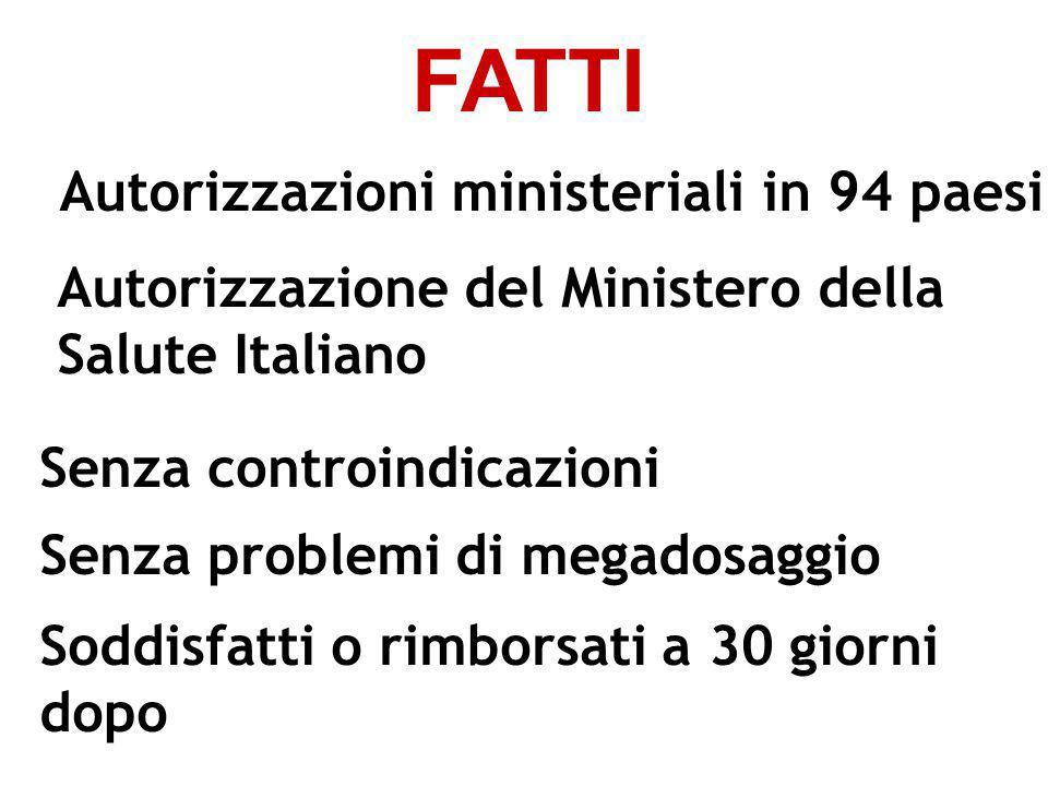 FATTI Autorizzazioni ministeriali in 94 paesi