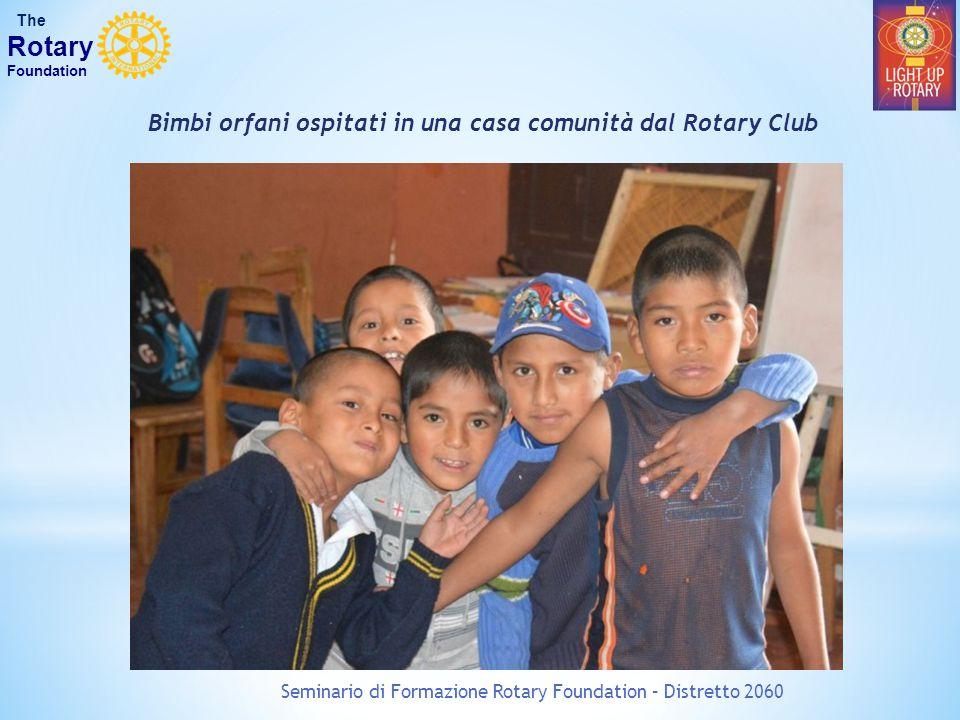 Bimbi orfani ospitati in una casa comunità dal Rotary Club