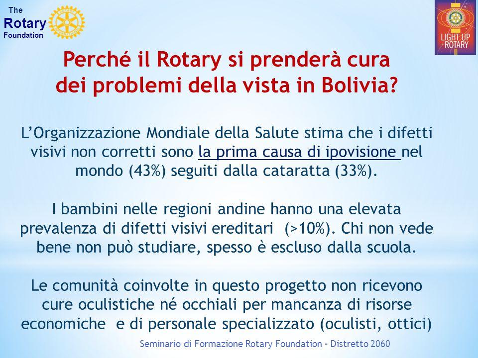 Perché il Rotary si prenderà cura dei problemi della vista in Bolivia