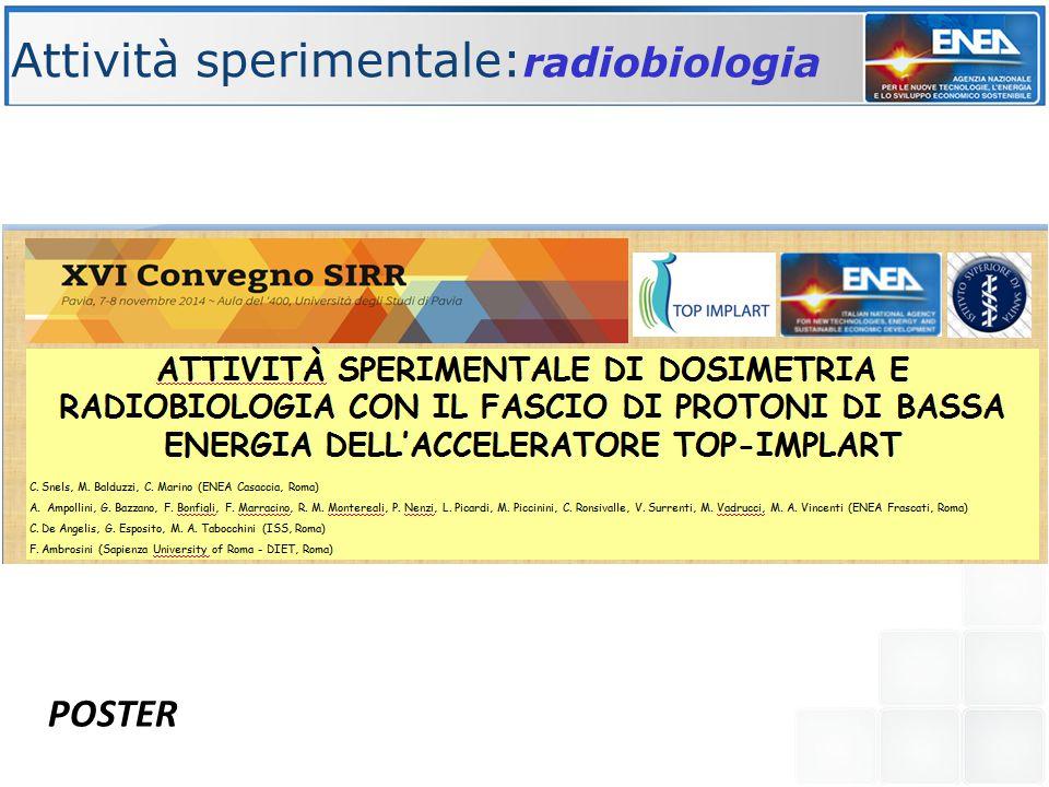 Attività sperimentale:radiobiologia