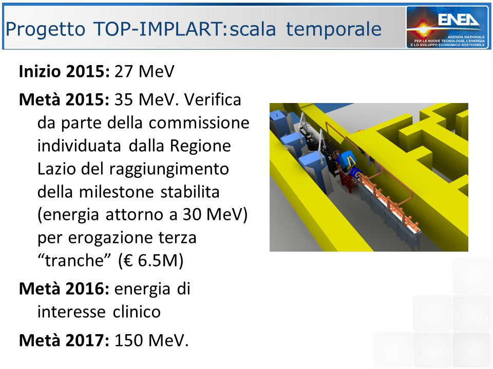 Progetto TOP-IMPLART:scala temporale