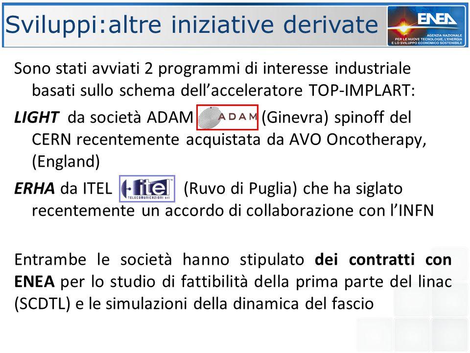 Sviluppi:altre iniziative derivate