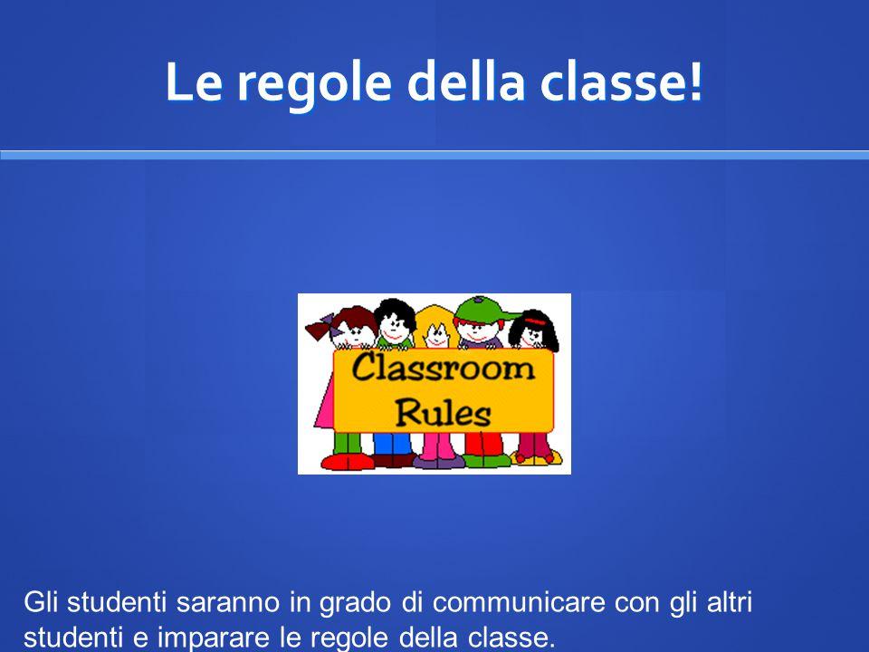 Le regole della classe.